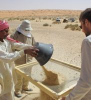 Sieving for artefacts in the desert