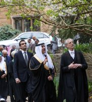 HRH Prince Sultan en route with the Pro-Vice Chancellor