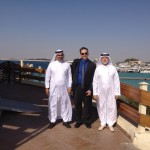 Dr. Abdullah Al-Attas (left), Prof. Michael Petraglia (centre), Dr. Zohair A. Nawab (right)
