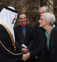 HRH Prince Sultan is introduced to the Principal of St. John's
