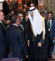 HRH Prince Sultan at the conclusion of the keynotes